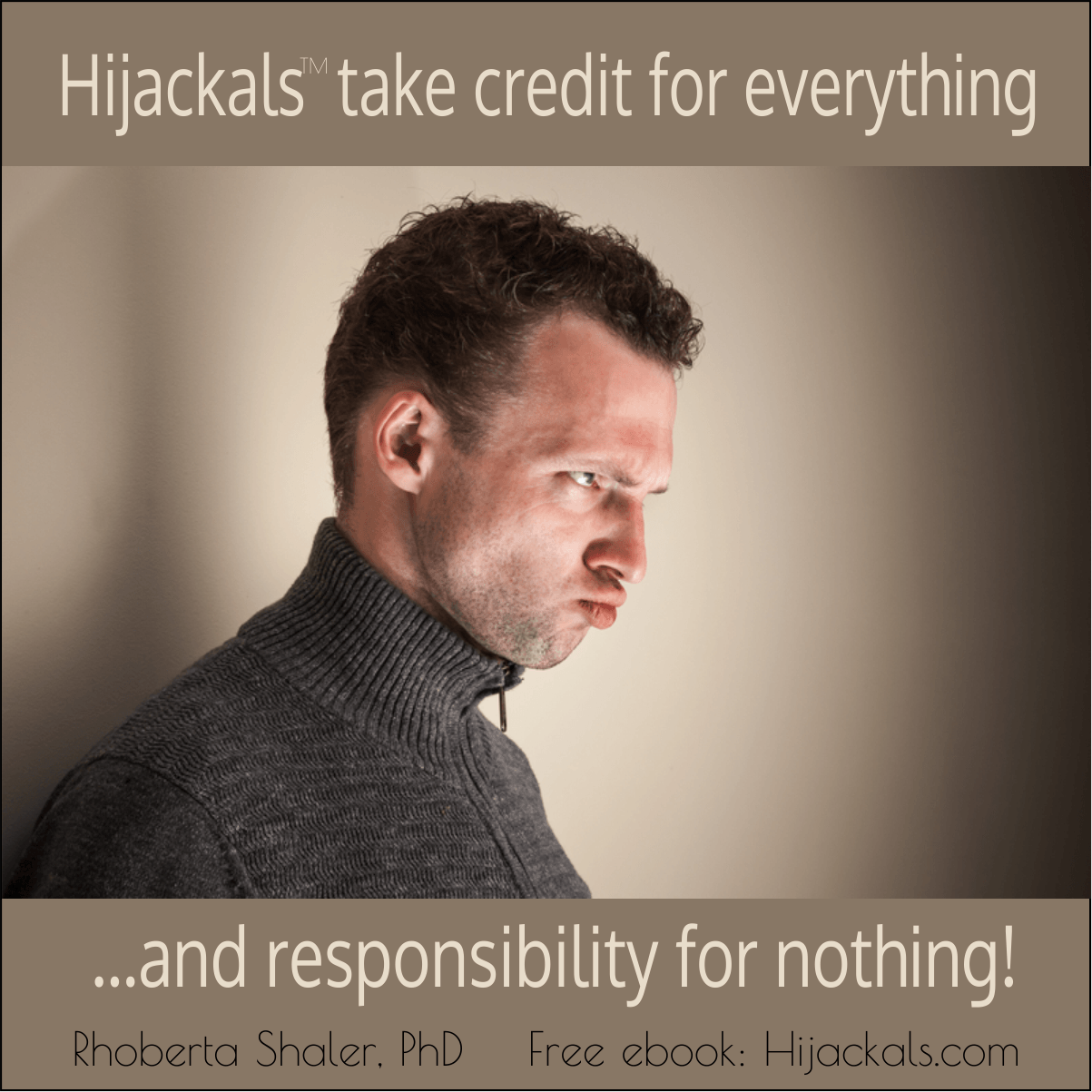 difficult people, Hijackals, take no responsibility