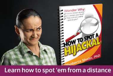 Hijackals Hurt. Learn how to spot them.